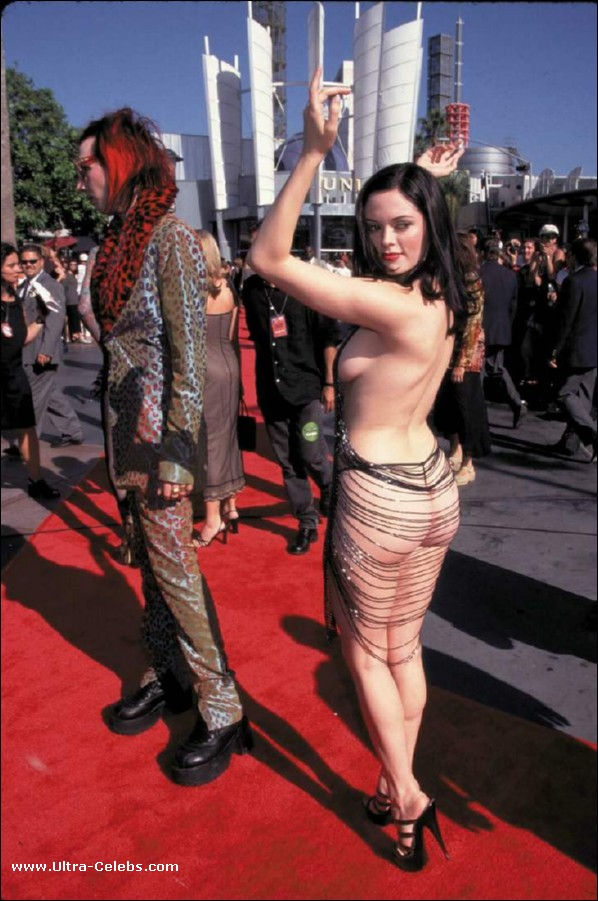 Rose Mcgowan See Thru Dress And Nude Vidcaps Pictures